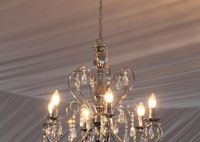 Silver and Crystal Chandeliers